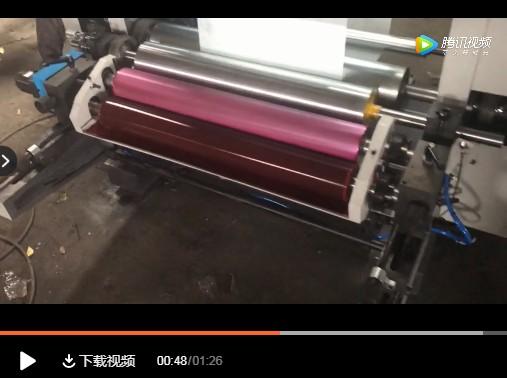 【视频】无纺布柔版印刷过程