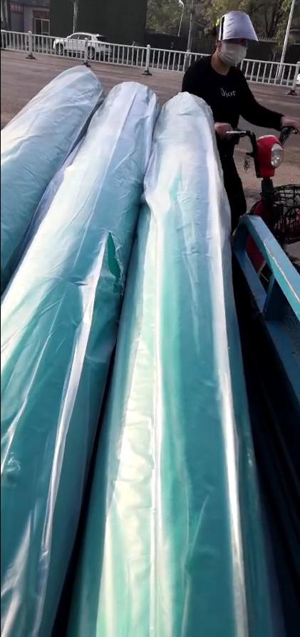 客户传图:2米宽绿化防尘绿化无纺布收到货